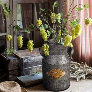 Other - Vintage Farmhouse Jug Vase Milk Can Pitcher
